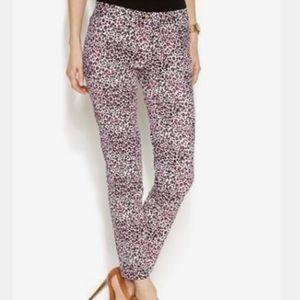 Michael Kors Begonia Women's Cheetah Print Pants.